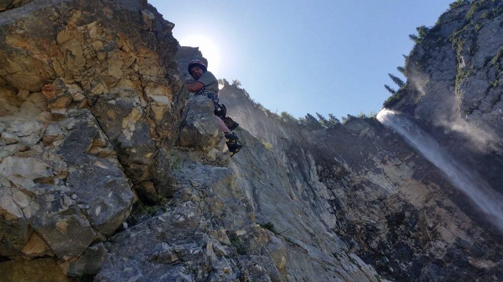 Den Latschentango an der Seebenwand klettern, Foto: Cecile Stolz | Climbers Paradise