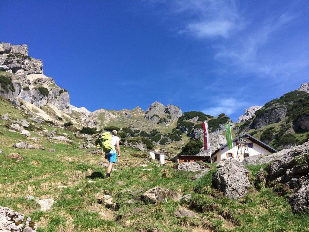 Ankunft bei der Muttekopfhütte | Climbers Paradise