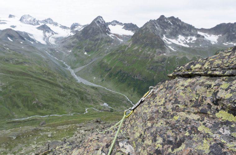 Die Aussicht beim Klettern im Klettergarten Gamshorn   Climbers Paradise