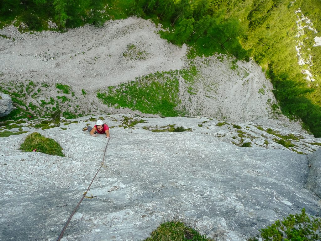 Anspruchsvolle Mehrseillängen der Route 'Hitzeflucht' (8), Foto: Simon Schöpf | Climbers Paradise