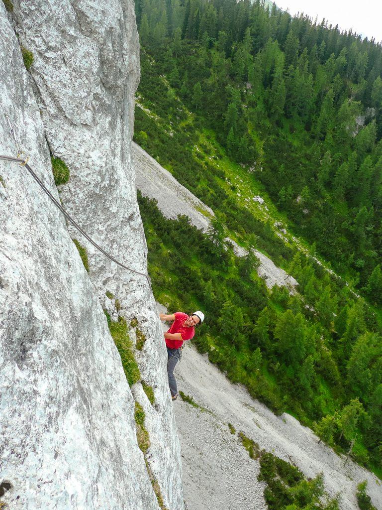 Klettern der Route 'Hitzeflucht' (8), Foto: Simon Schöpf | Climbers Paradise