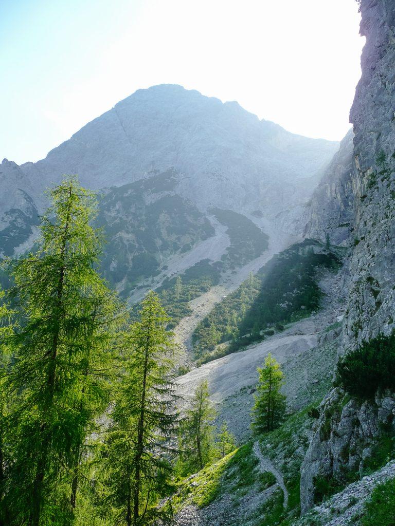 Der Zustieg zum Wampeten Schrofen, Foto: Simon Schöpf | Climbers Paradise