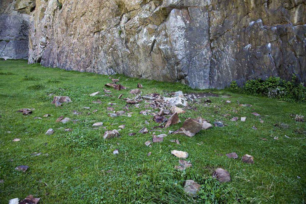 Ein Felssturz bei Tumpen, Foto: Mike Gabl | Climbers Paradise
