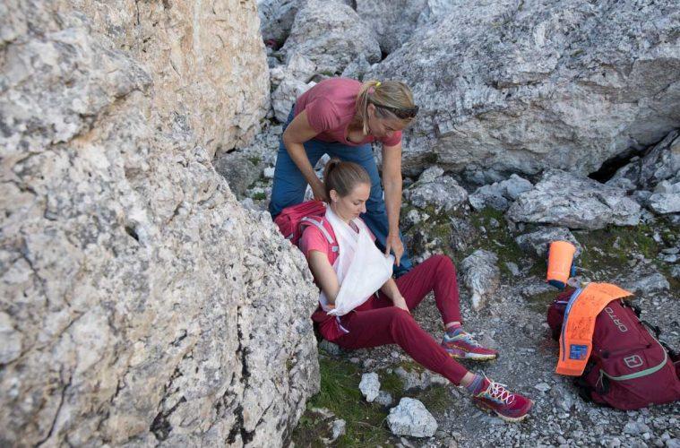 Erste Hilfe bei einer Schulterverletzung, Foto: Hansi Heckmair | Climbers Paradise