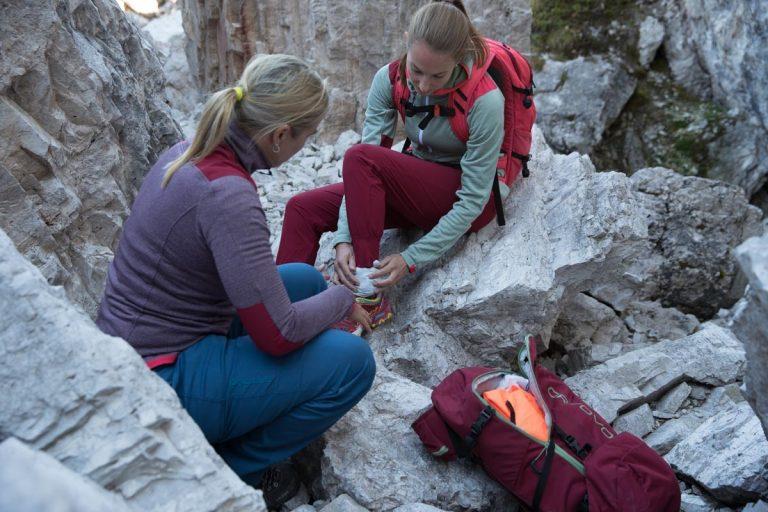Erste Hilfe bei einem verstauchten Knöchel, Foto: Hansi Heckmair   Climbers Paradise