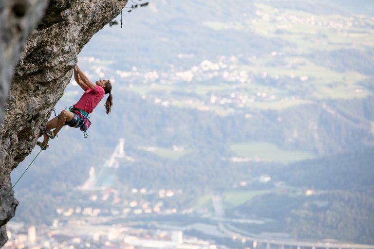 Anna Stöhr klettert auch alpin sehr gerne, Foto: Fichtinger/Innsbruck   Climbers Paradise