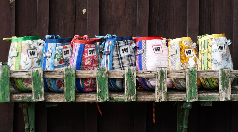 Chalkbags von SOY Upcycling Design, Foto: SOY Upcycling Design | Climbers Paradise
