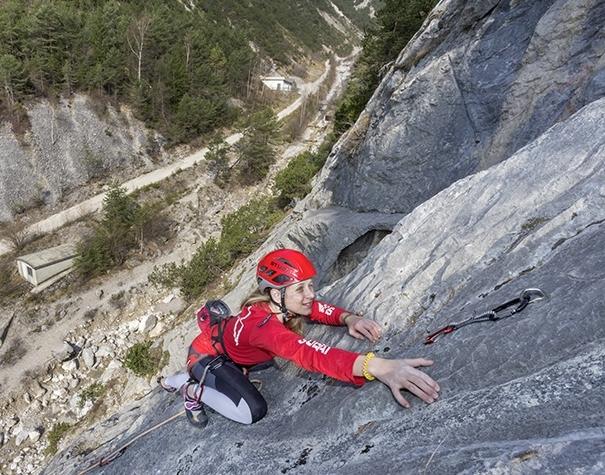 Klettern im Winter bei der Arzbergklamm, Foto: Günter Durner | Climbers Paradise