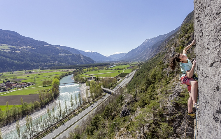 Mitten im schönen Inntal, der Klettergarten Silz, Foto: Günter Durner | Climbers Paradise