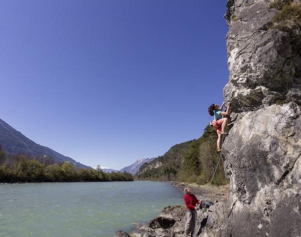 Klettern direkt am Inn, Foto: Günter Durner | Climbers Paradise