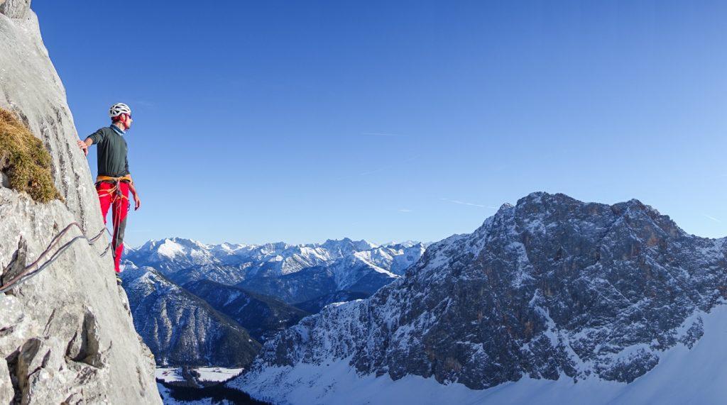 Panorama am Standplatz beim Schüsselkar, Foto: Simon Schöpf | Climbers Paradise