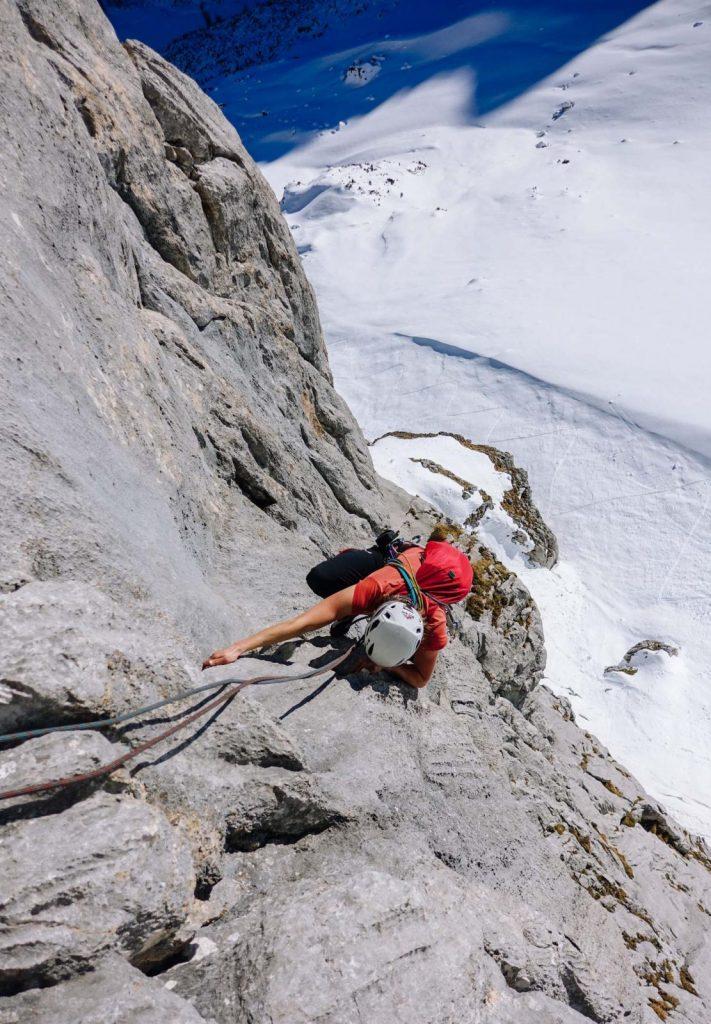 Klettern mitten im Winter im Wettersteingebirge, Foto: Simon Schöpf | Climbers Paradise