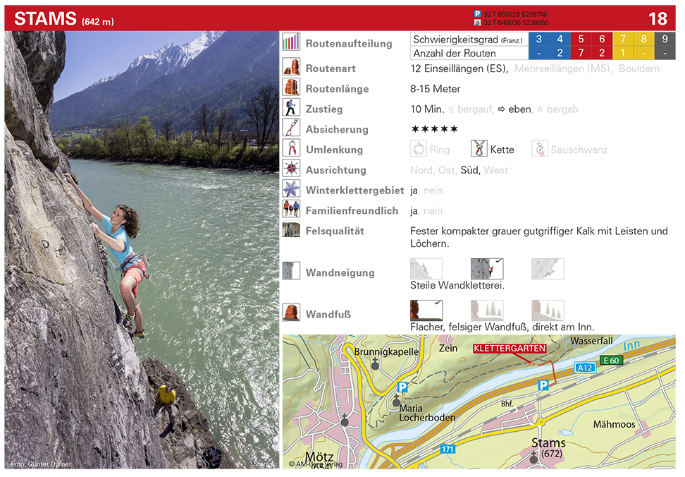 Kletterführer, Beispiel Anfahrtskarte, Günter Durer| Climbers Paradise