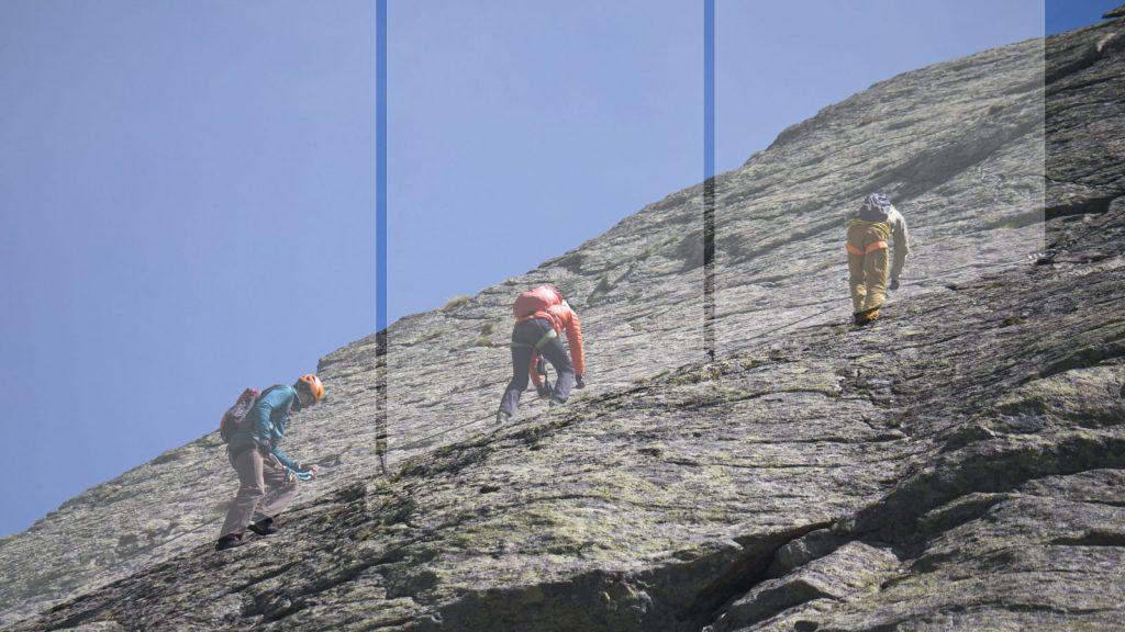Klettersteigtutorial - Unterwegs, Abstände, Foto: Alpsolut, Österreichischer Alpenverein | Climbers Paradise