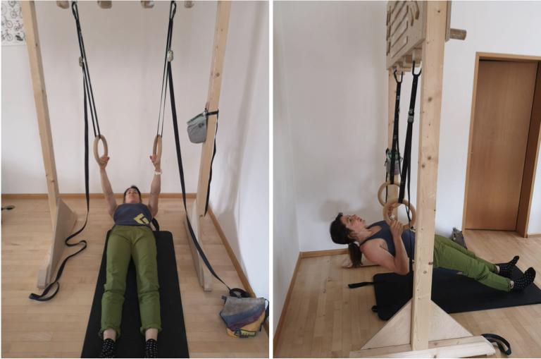 Kletter-Ausgleichsübungen, Rudern Singeltrainer, Martina Scheichl | Climbers Paradise