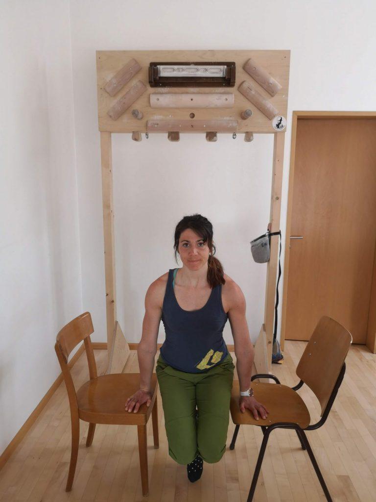 Kletter-Ausgleichsübungen, Stütz, Martina Scheichl | Climbers Paradise
