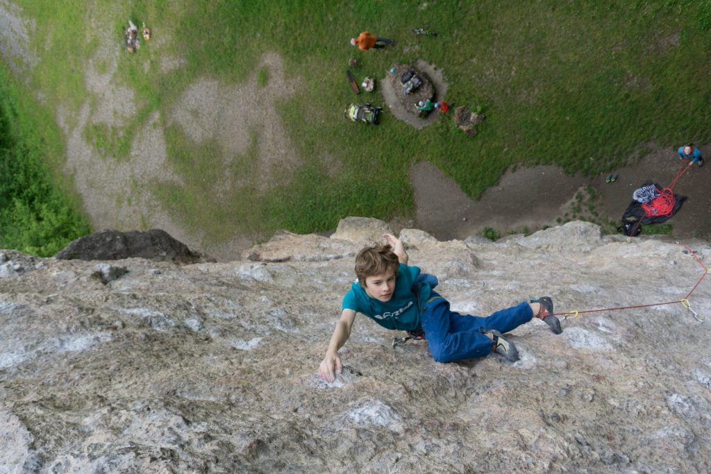 Klettern mit Kindern - am Fels, Foto: Matthias Bader |Climbers Paradise