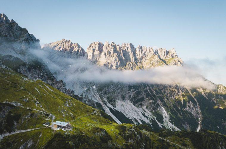 Die Gruttenhütte am Wilden Kaiser. Foto: Stefan Leitner | Climbers Paradise