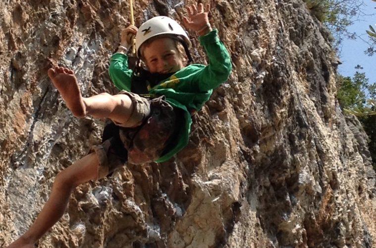 Klettern mit Kindern -Umstieg auf Fels, Foto: Matthais Bader | Climbers Paradise