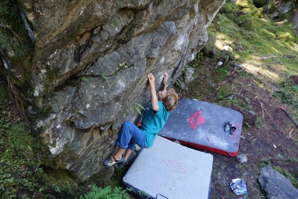 Bouldern mit Kindern - Mandlersboden, Pitztal, Foto: Matthias Bader | Climbers Paradise