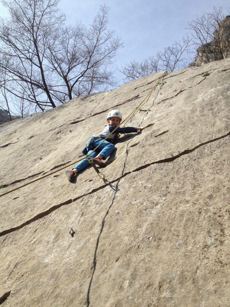 Klettern mit Kindern - immer zuerst toprope, Foto: Matthais Bader | Climbers Paradise