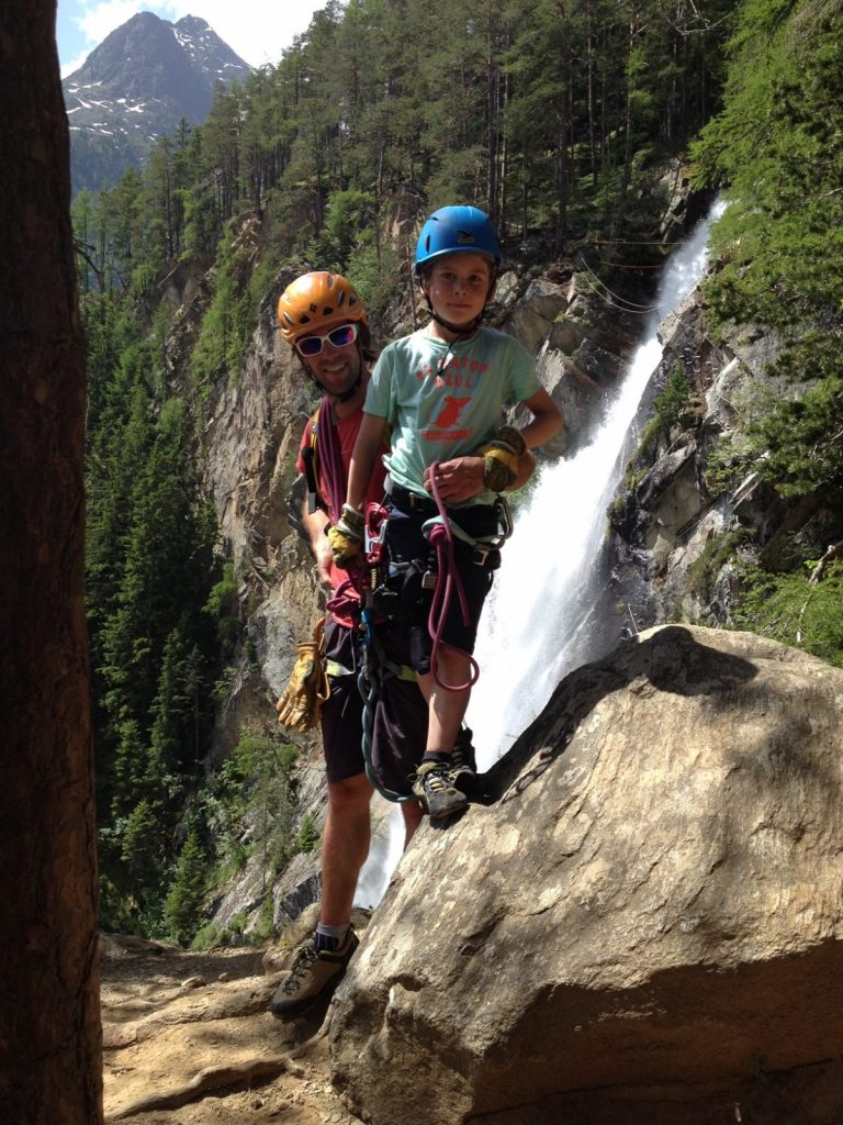 Klettersteig mit Kindern - Erfolgserlebnis, Foto: Matthias Bader |Climbers Paradise