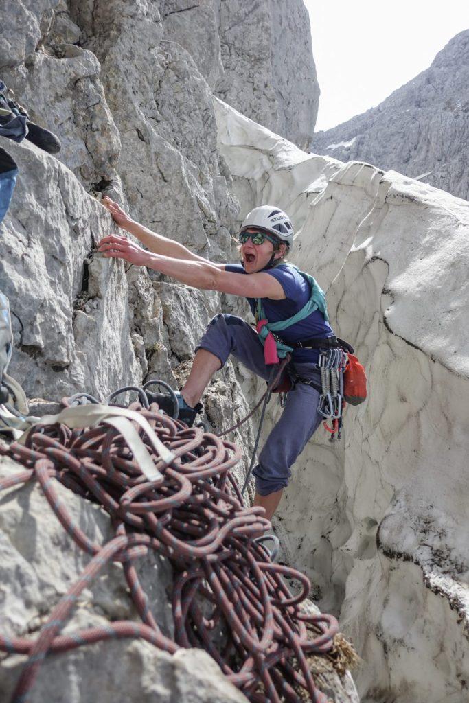 Wilder Kaiser: Alpinklettern am Sonneck. Foto: Simon Schöpf | Climbers Paradise