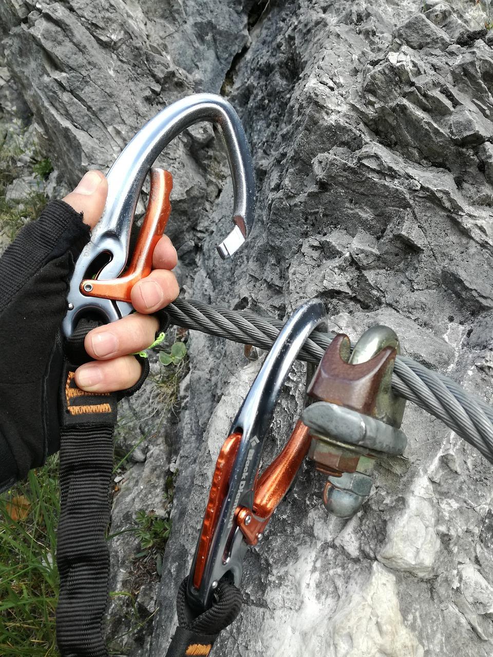 Richtiges Einhängen der Karabiner, Foto: pixabay | Climbers Paradise