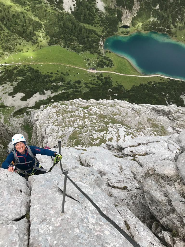 Ehrwalder Klettersteigrunde - Tajakante Klettersteig; Foto: Susa Schreiner | Climbers Paradise
