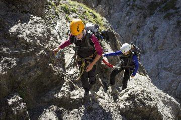 Der Klamm-Klettersteig im Wilden Kaiser, Foto: Tirol Werbung Ellmauer Tor im Wilden Kaiser, Foto: Tirol Werbung | Climbers Paradise