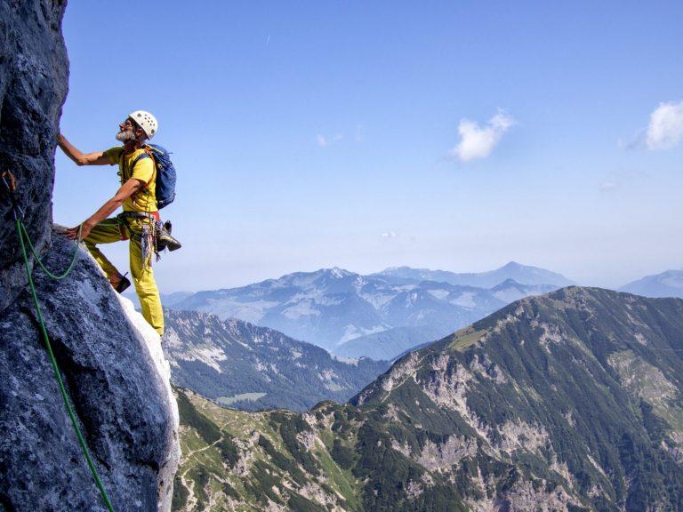 Alpinklettern am Wilden Kaiser, Tirol. Foto: Simon Schöpf  Climbers Paradise