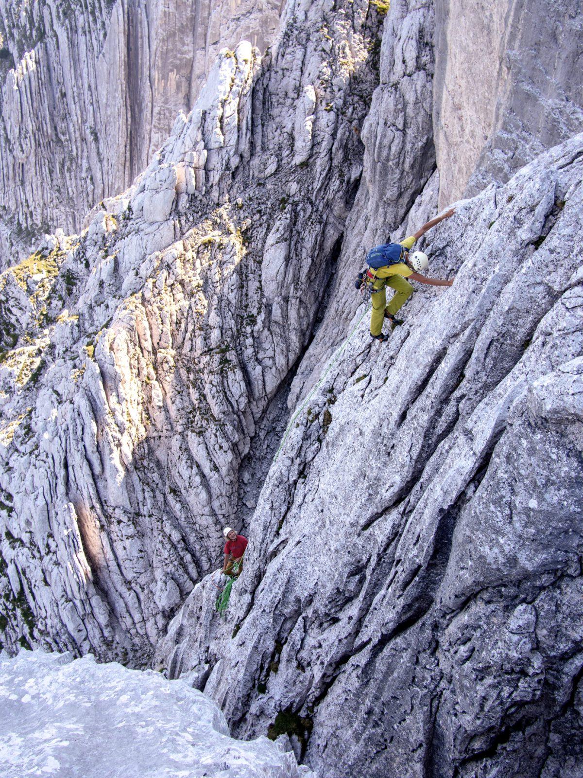 Alpinklettern am Wilden Kaiser, Tirol. Foto: Simon Schöpf |Climbers Paradise