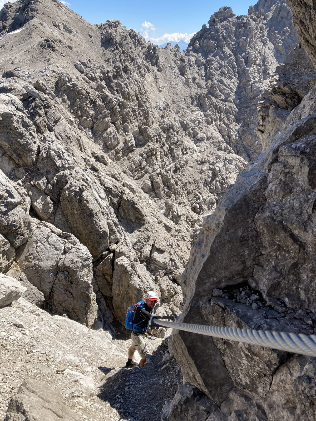 Imster Klettersteig, Abstieg durchs Engelkarl, Foto: Susa Schreiner |Climbers Paradise