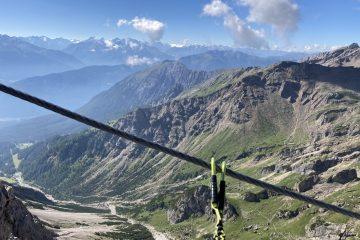 Rastplatz mit Aussicht am Imster Klettersteig, Foto: Susa Schreiner |Climbers Paradise