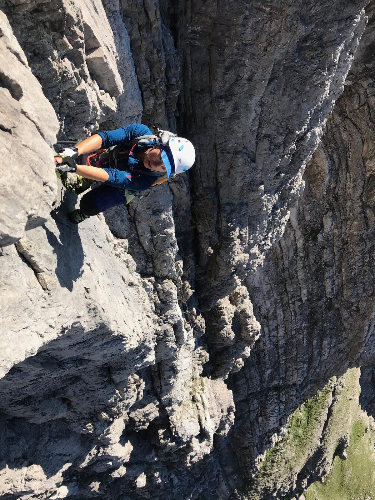 Steile Passage im ersten Drittel des Imster Klettersteiges, Foto: Susa Schreiner |Climbers Paradise