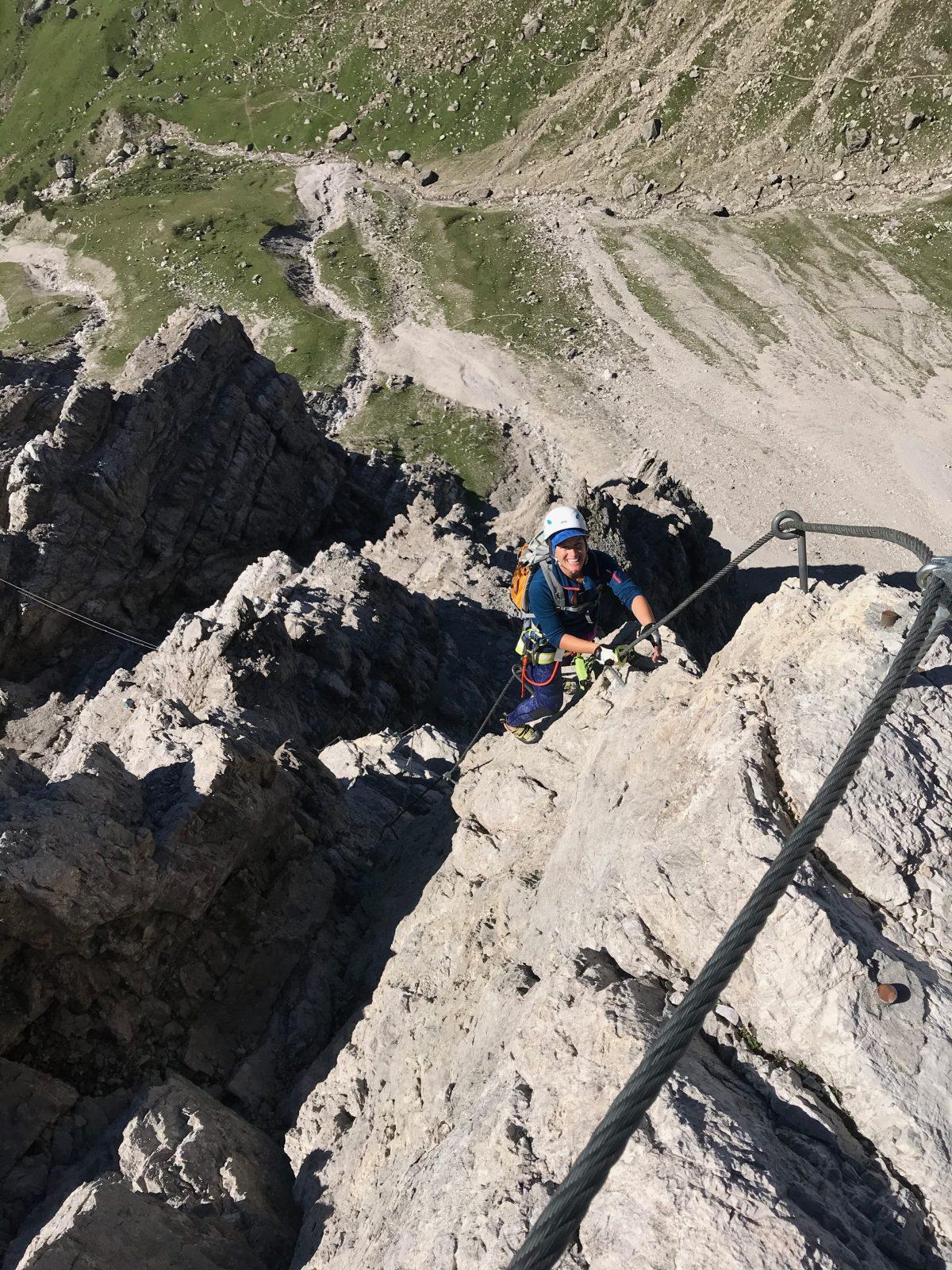 Die steile Passage nach der Seilbrücke hat es in sich, Foto: Susa Schreiner |Climbers Paradise