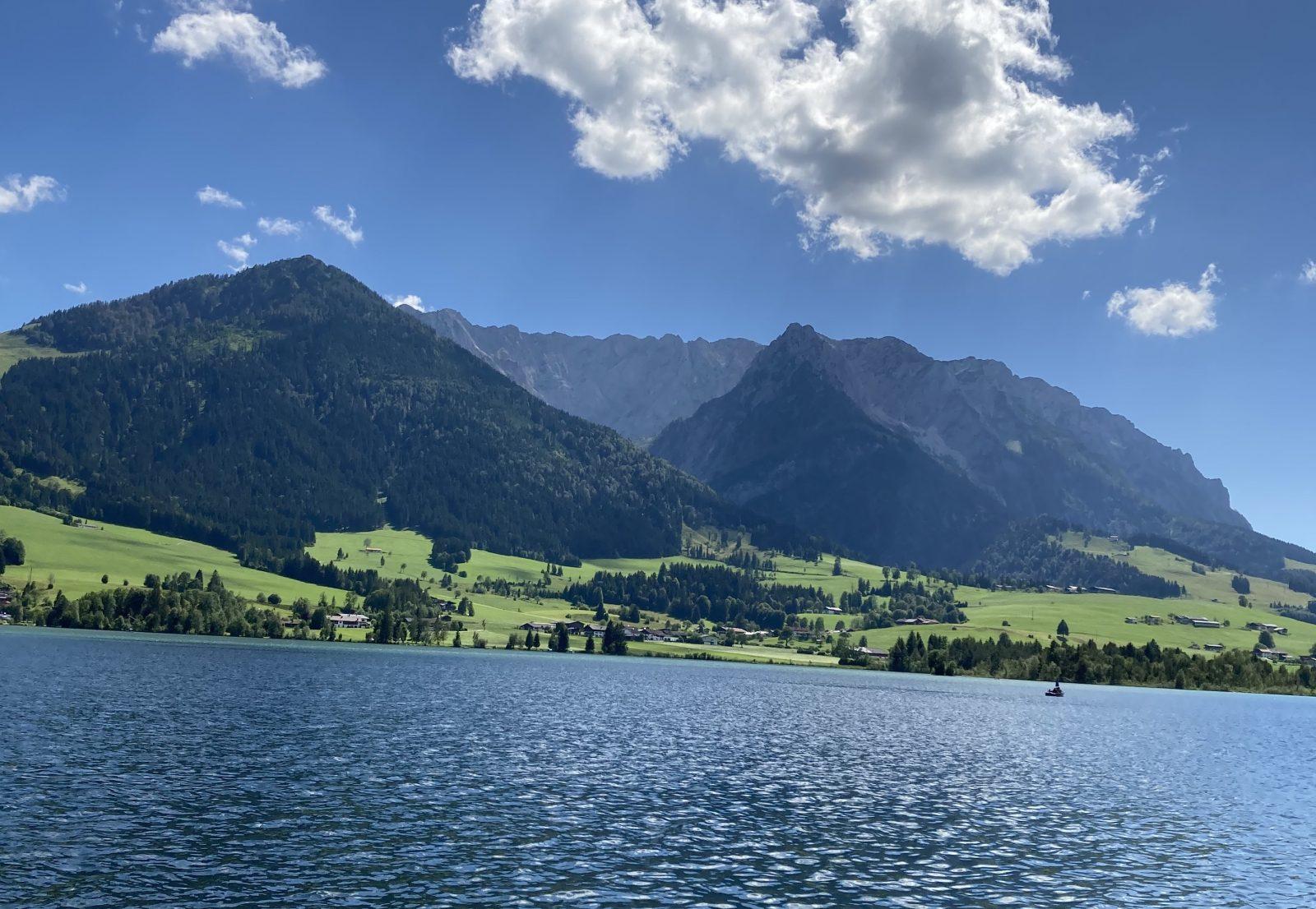 Walchsee mit Zahmer Kaiser, Foto: Susa Schreiner  Climbers Paradise