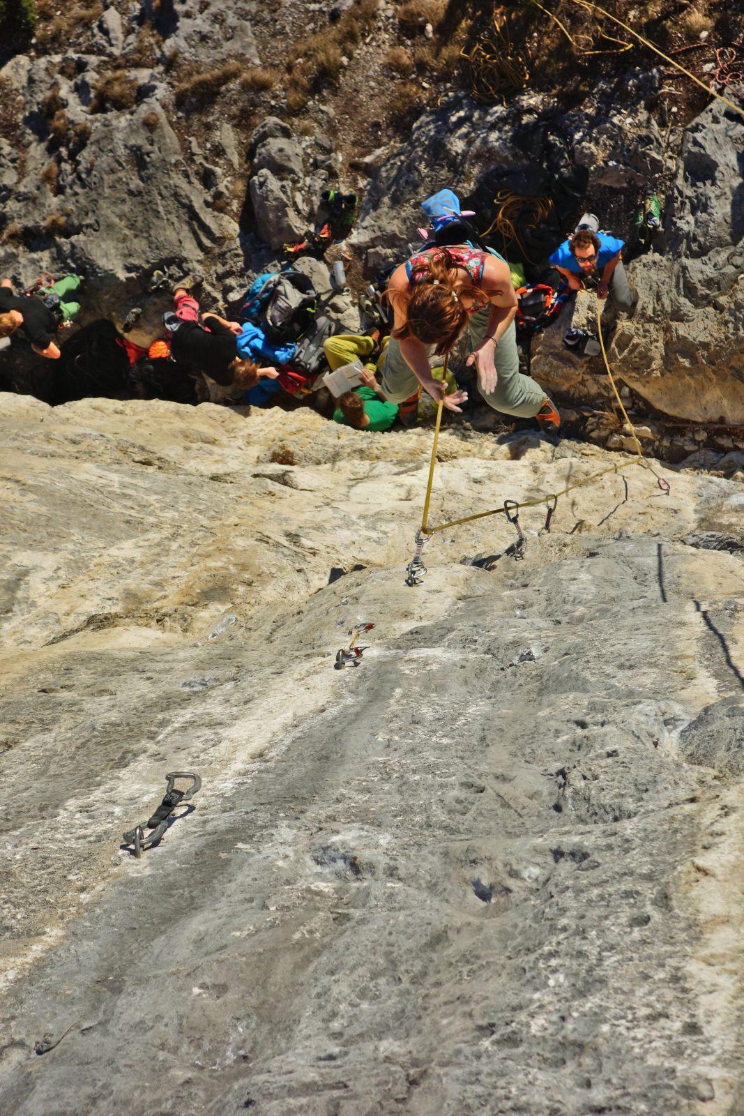 Sturzangst durch geplantes Fallen überwinden, Foto: Martina Scheichl |Climbers Paradise