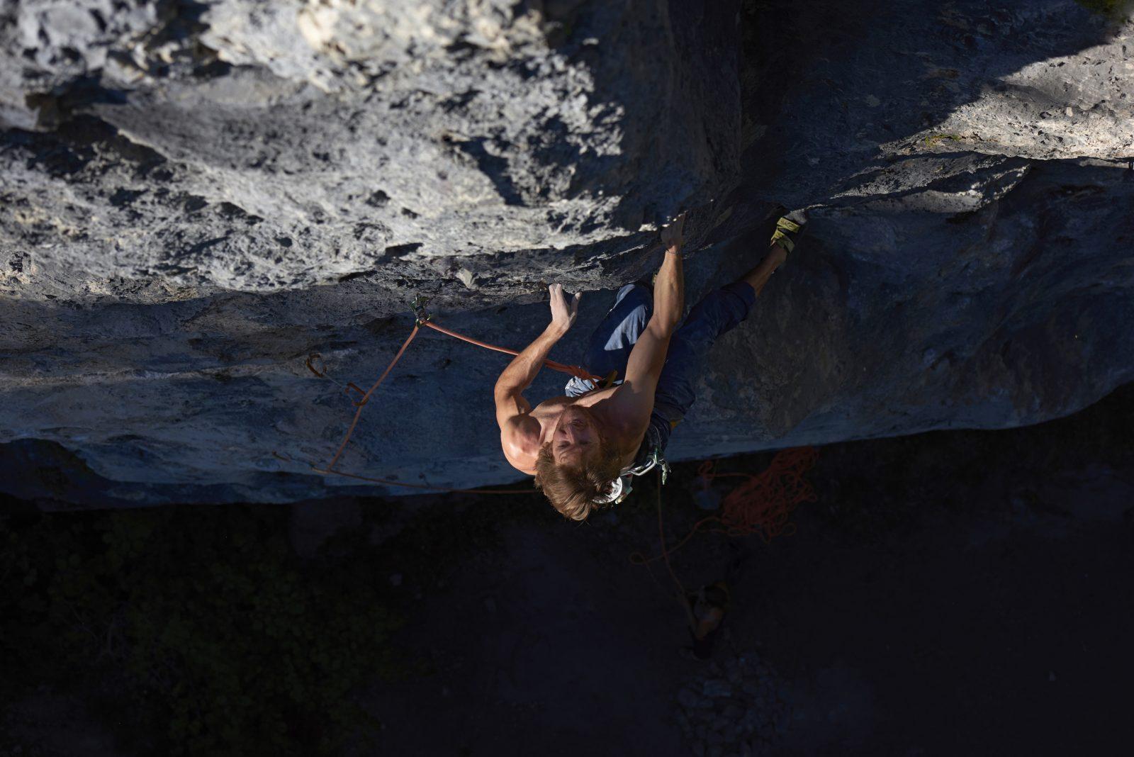 Klettern an der Geisterschmiedwand bei Kufstein, Foto: Michael Meisl