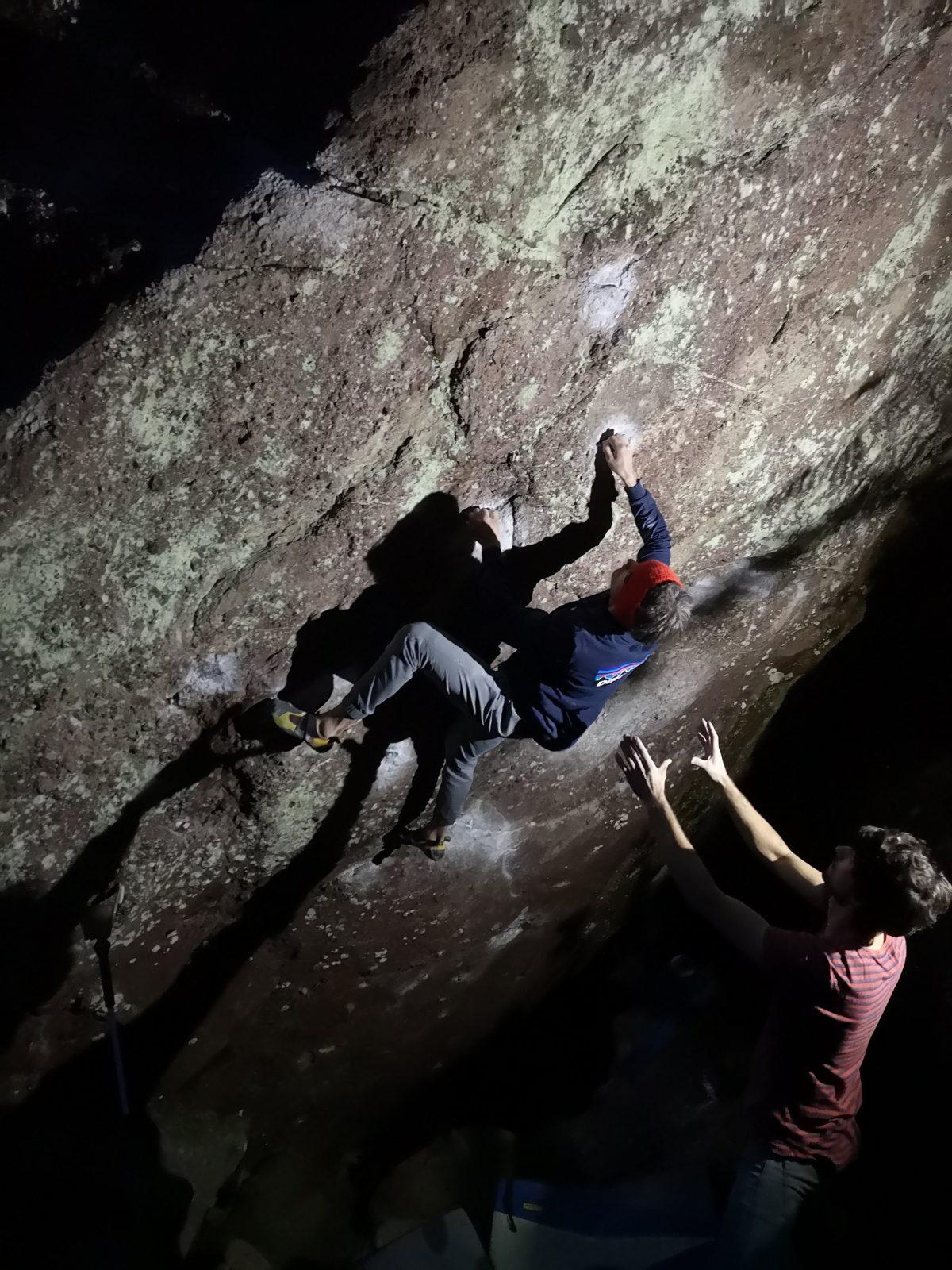 Night Session mit Stirnlampe, Foto: Martina Scheichl |Climbers Paradise
