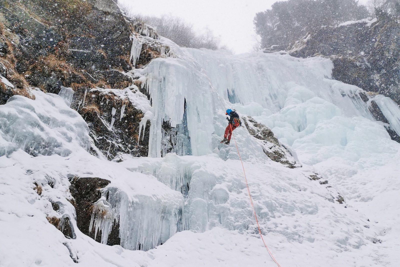 Eisklettern Gasthausfall, Foto: Benjamin Zörer |Climbers Paradise