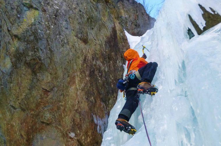 Eisklettern, Foto: Benjamin Zörer  Climbers Paradise