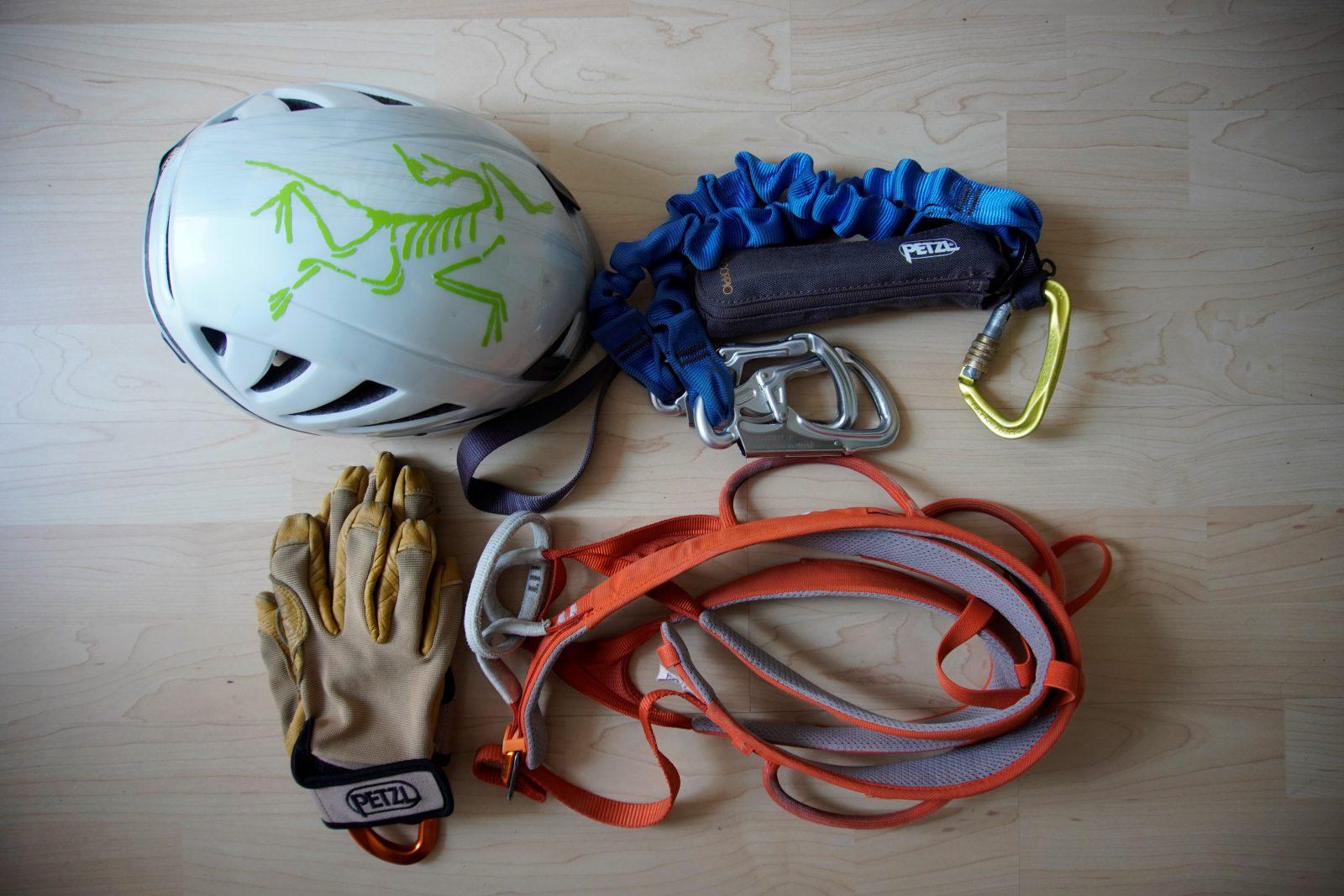 Klettersteigausrüstung, Foto: Benjamin Zörer I Climbers Paradise