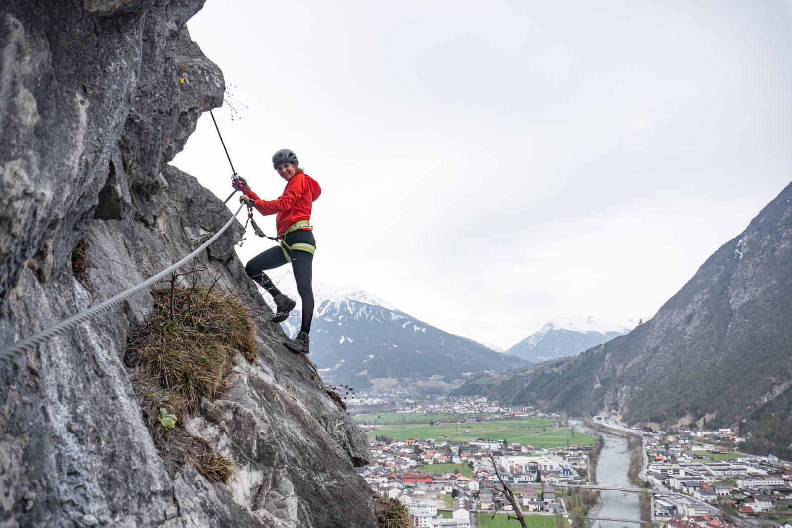 Galugg Klettersteig - Querung, Foto: Benjamin Zörer I Climbers Paradise