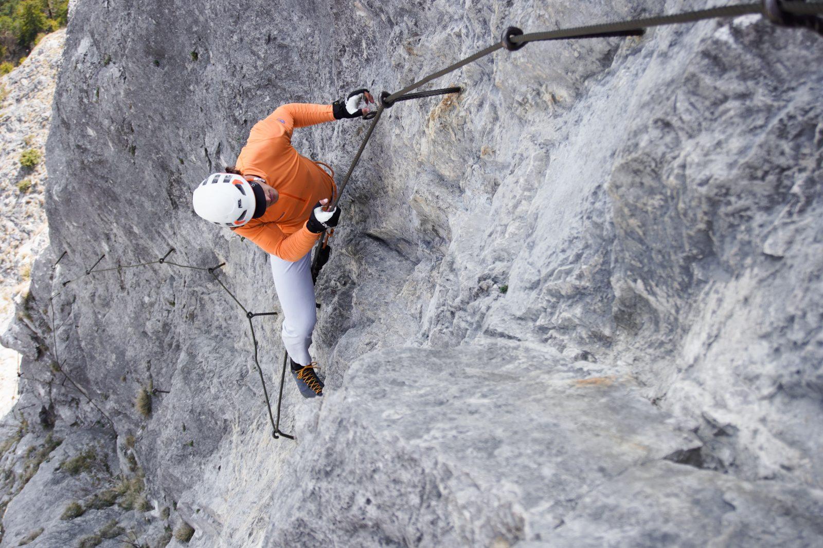 Kaiser-Max-Klettersteig, Schlüsselstelle, Foto: Benjamin Zörer I Climbers Paradise