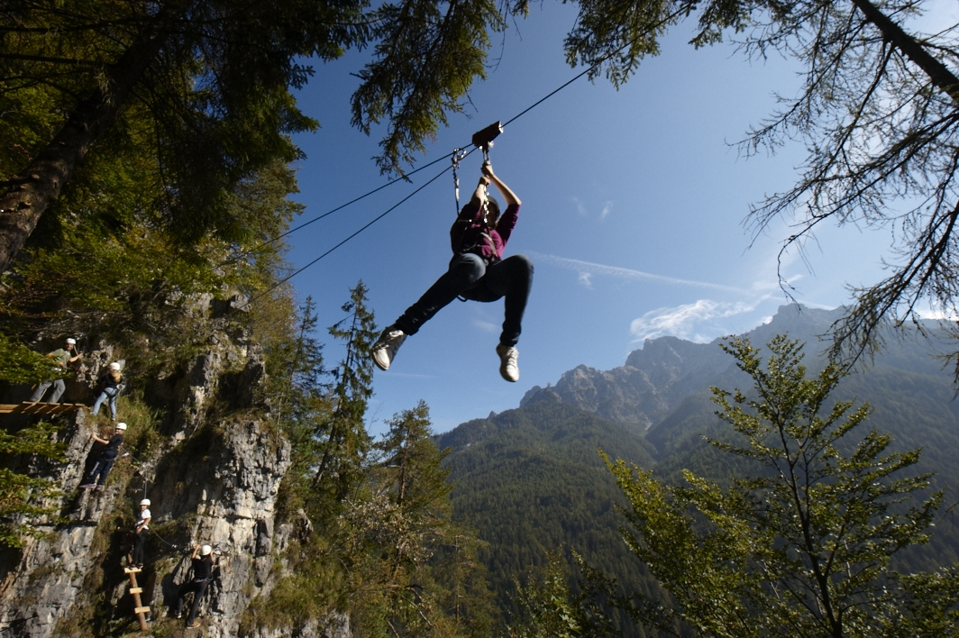 St. Adolari Klettersteig Flying Fox, Foto: Markus Kogler I Climbers Paradise