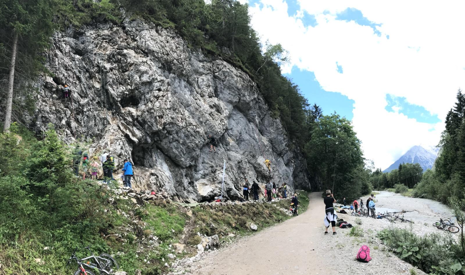 Seefeld, Klettergarten Flämenwandl, Foto: Olympiaregion Seefeld I Climbers Paradise
