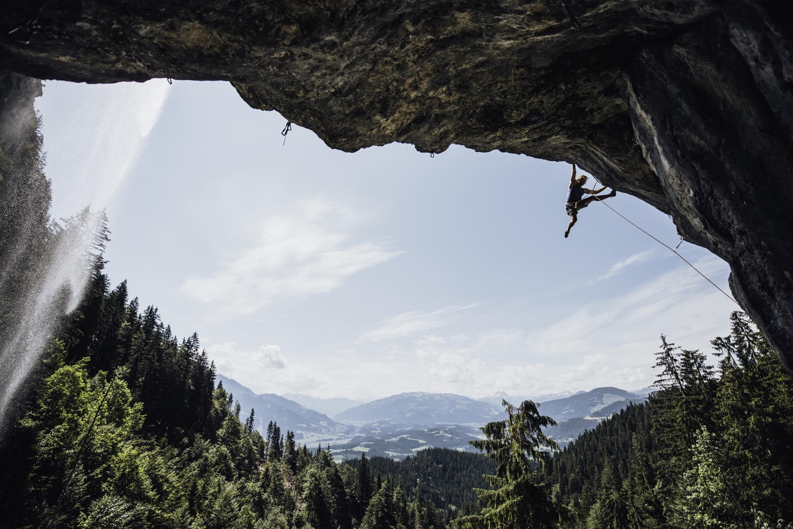 Schleierwasserfall, Wilder Kaiser, Foto: Claudia Ziegler I Climbers Paradise