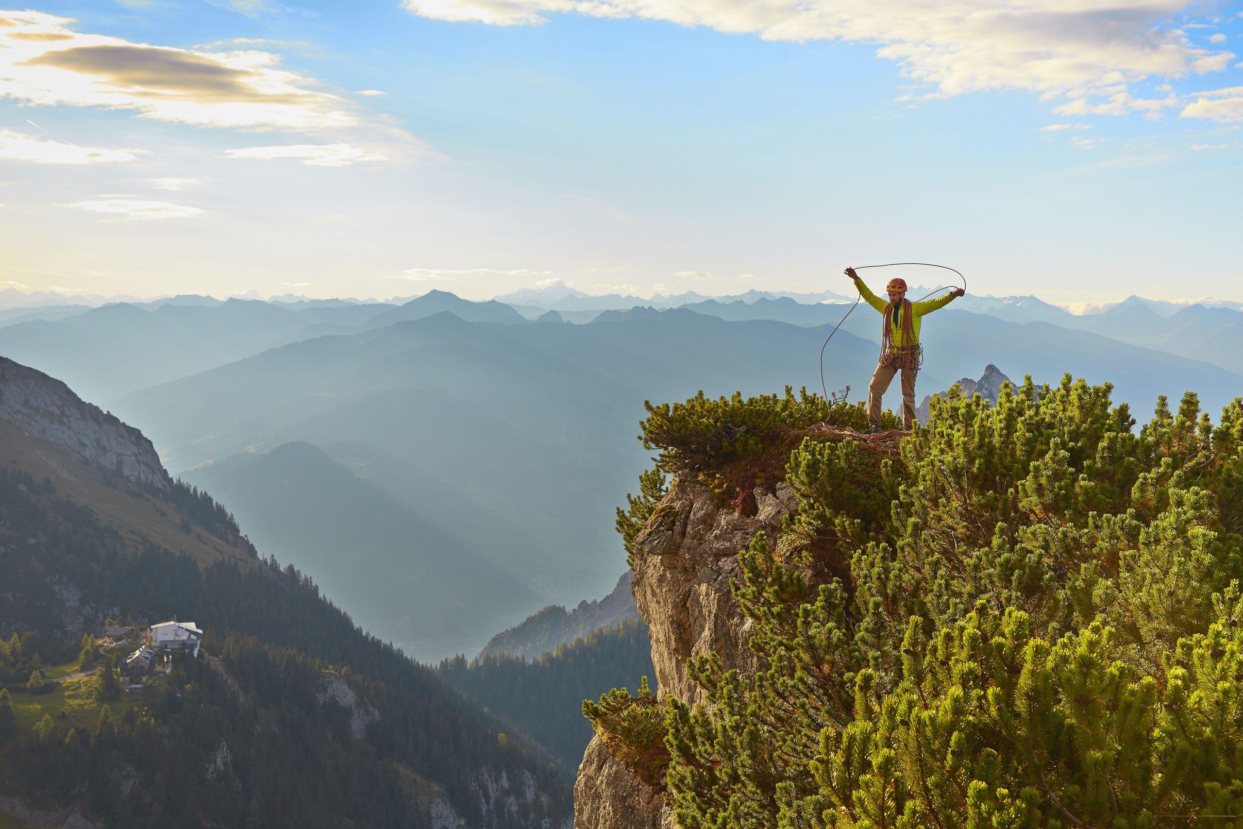 Klettern im Rofan, Foto: TVB Achensee I Climbers Paradise