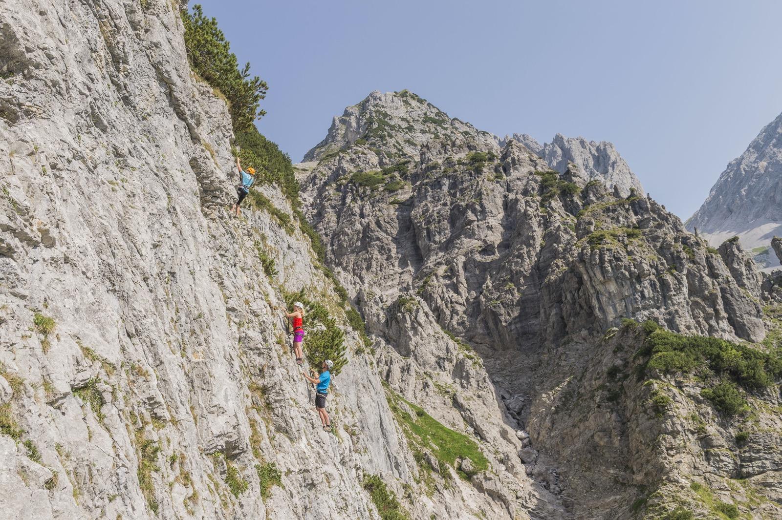 Klettersteig Klamm, Wilder Kaiser, Foto Peter von Feldbert I Climbers Paradise